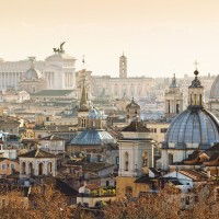 Panorama of old town in city of Rome Donati Immobiliare group